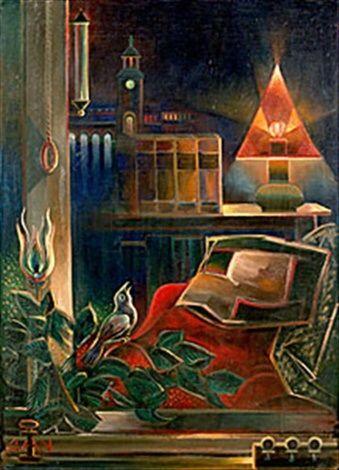 "Gösta Adrian-Nilsson a.k.a. GAN (Swedish, 1884-1965) - ""Dubbel-exponering"" (Double exposure), c. 1935"