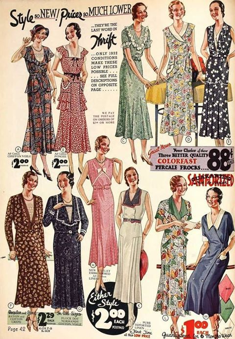 1930's Fashion Dresses #1930sfashion #1930sdresses