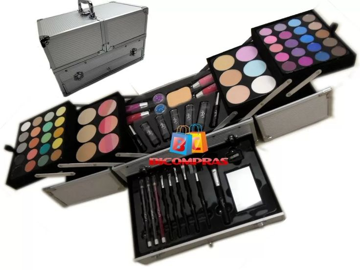 kit maleta maquiagem grande estojo profissional jasmyne v641