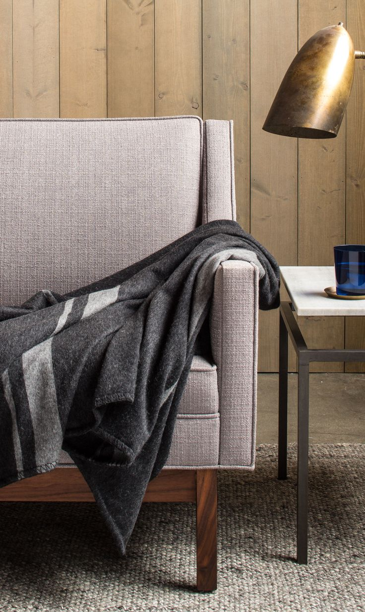 100% Cashmere yarn spun in Scotland and prized for its superior softness. Blanket-weight Cashmere Throws by Parachute Home. http://www.parachutehome.com/products/blanket-weight-cashmere-throw