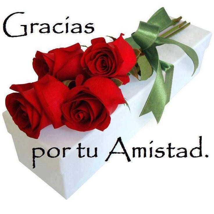 Gracias por tu Amistad - Lindo Ramo de Rosas Rojas - Imagenes con Frases, Fotos y Carteles para Compartir
