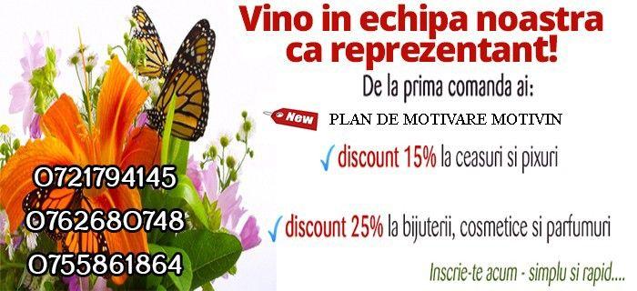 Inscrie-te ca reprezentant Cristianlay si beneficiezi de discount 15% la ceasuri, 25% la biuterii, cosmetice si parfumuri.