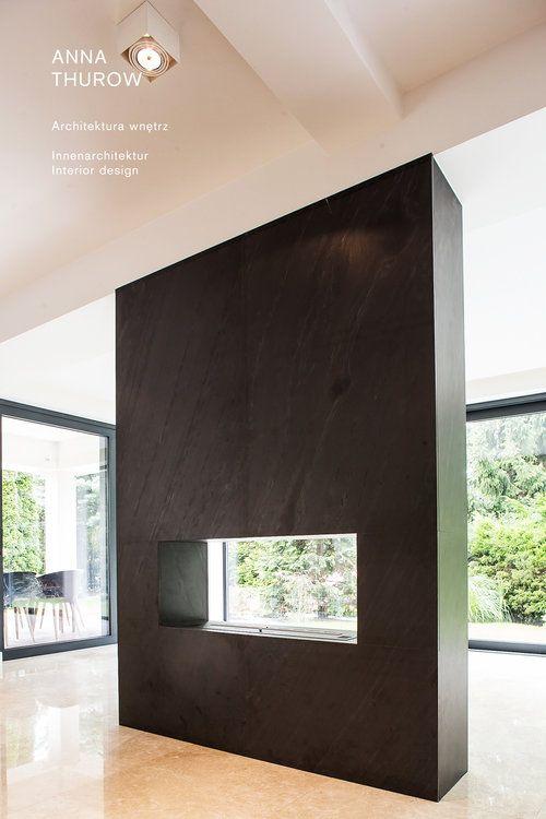 modern black slate fireplaces ideas nowoczesny kominek z łupka designed by: annathurow.pl