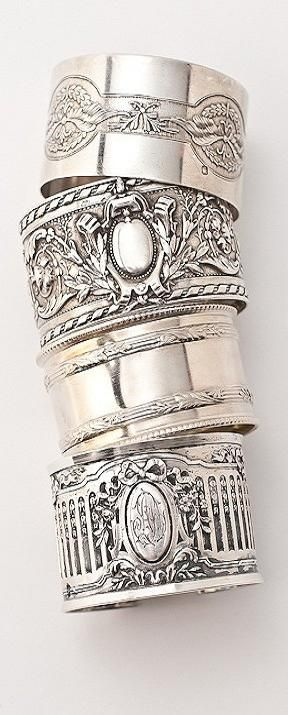 Antique Sterling Napkin Ring Cuffs ♥✤ | KeepSmiling | BeStayClassy