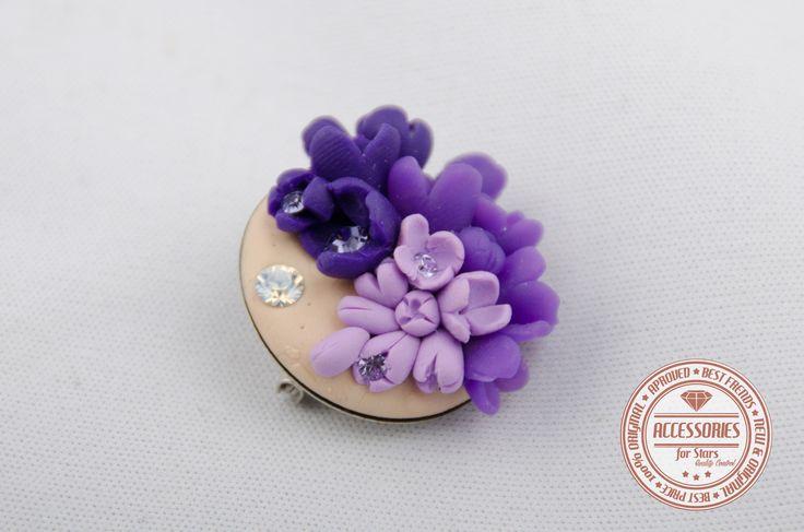 http://accessoriesforstars.blogspot.ro/ #brooches #purple #swarovski #crystals #brose #accessories #flowers #lilac