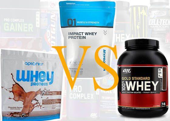 Myprotein vs Gold standard vs Aptonia, quel est le meilleur produit whey ?