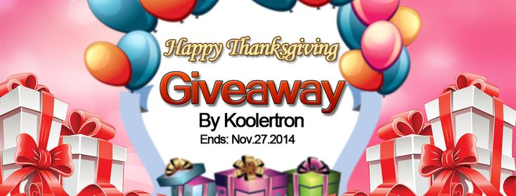 2014 Thanksgiving Day is coming soon, and Koolertron is offering Thanksgiving Giveaway for You!