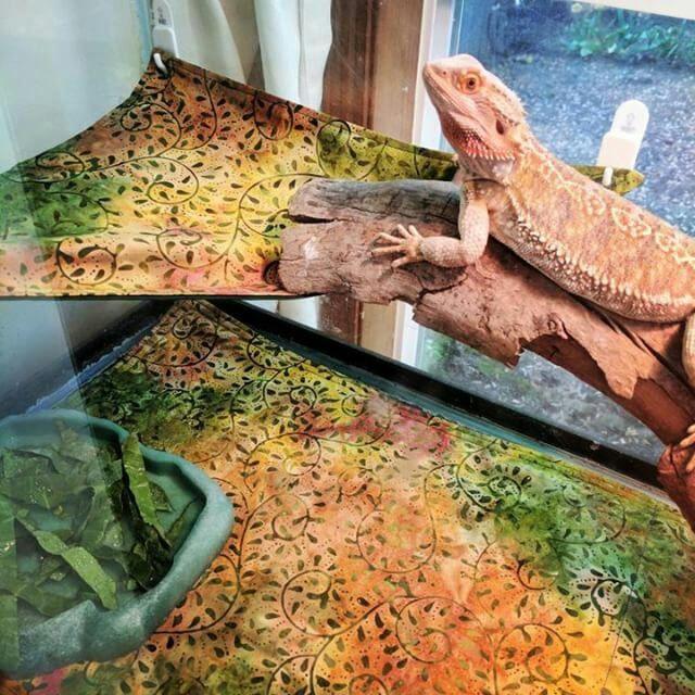 Terrarium Tank Carpet Liner And Hammock Pet Enclosure Bed Set For Reptiles Bearded Dragon Lizard Gecko Ferret Hamster Rat