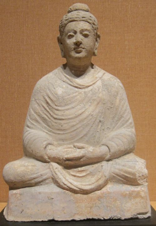 pointers-to-reality:  Seated Buddha from Afghanistan, Gandhara, 3rd-4th century CE