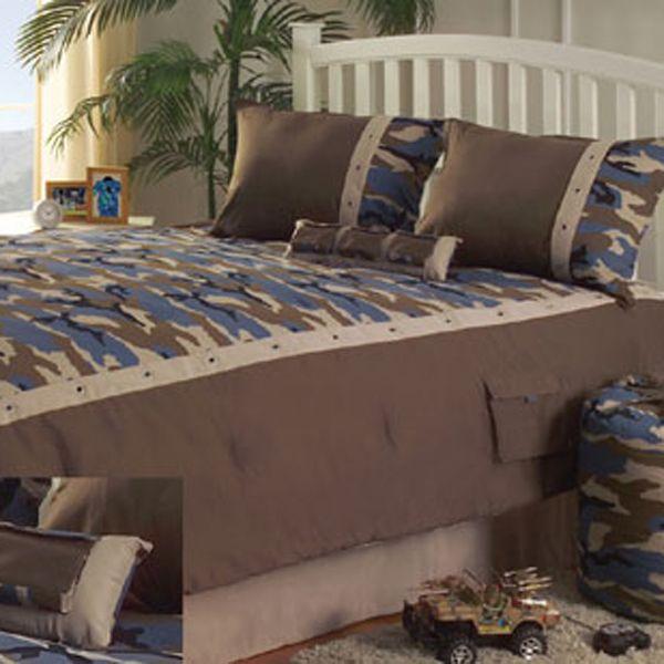 girls camo bedroom? | kids-camo-beddingkathy-ireland-americana-blue-khaki-camouflage-bedding ...