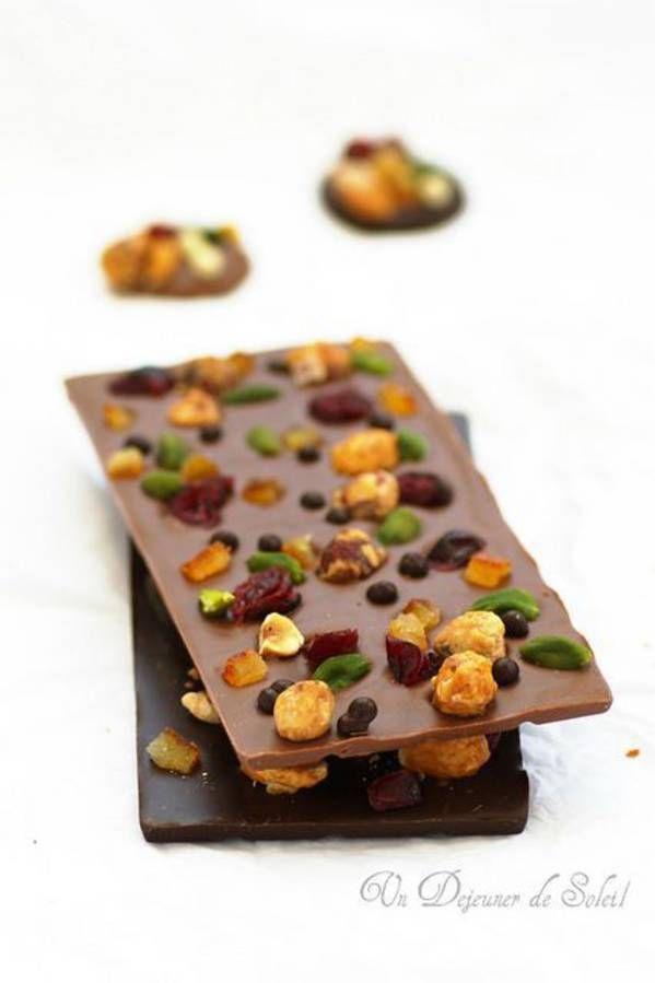 Tablette de chocolat maison : 10 idées de tablettes de chocolat maison. - Elle à Table