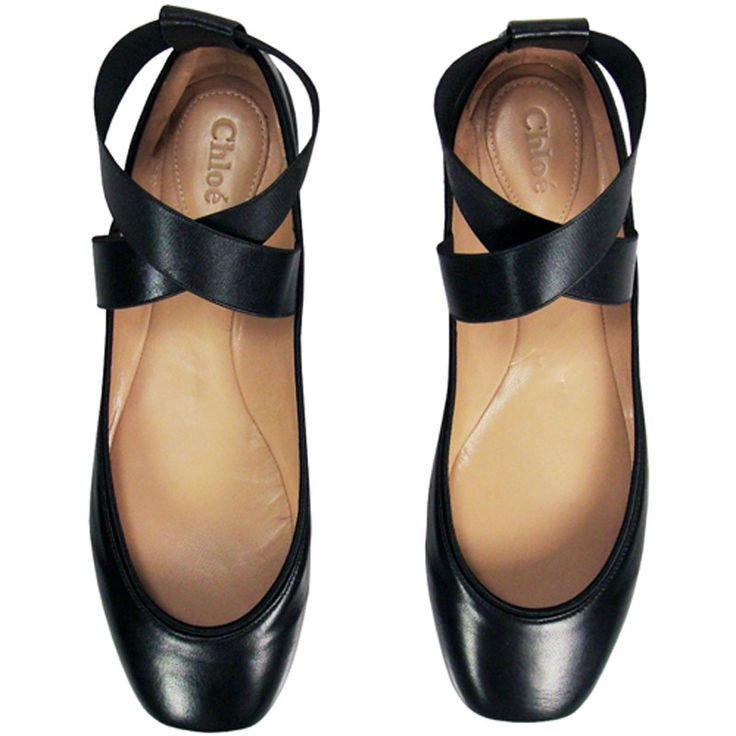 Chloe ballerina flats in black...