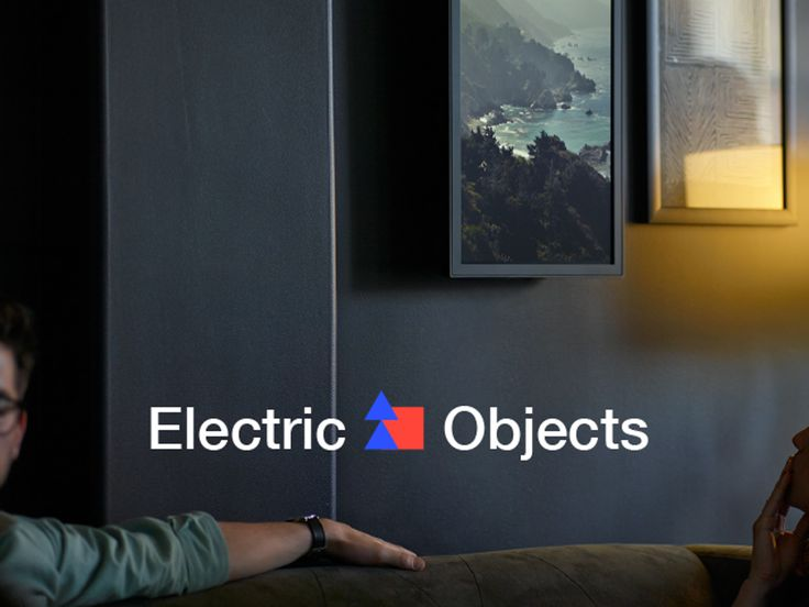 Electric Objects: A Computer Made for Art. This is an electronic picture frame that displays images from the internet and is controlled by smartphone.