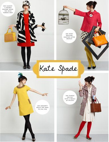 If I'm ever in the money, Kate Spade will be all that I wear. She just gets me.