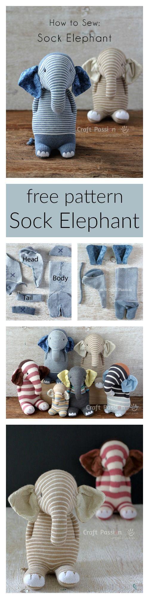 Elefanten aus Socken