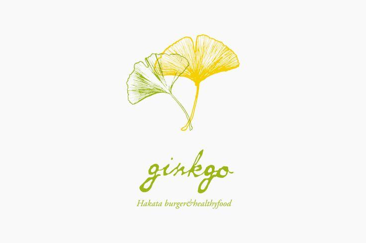 ヘルシーフードのお店 ginkgo(ジャンコ)のロゴ  #vi#ci #logo #typo #design #fukuoka #eat #shop
