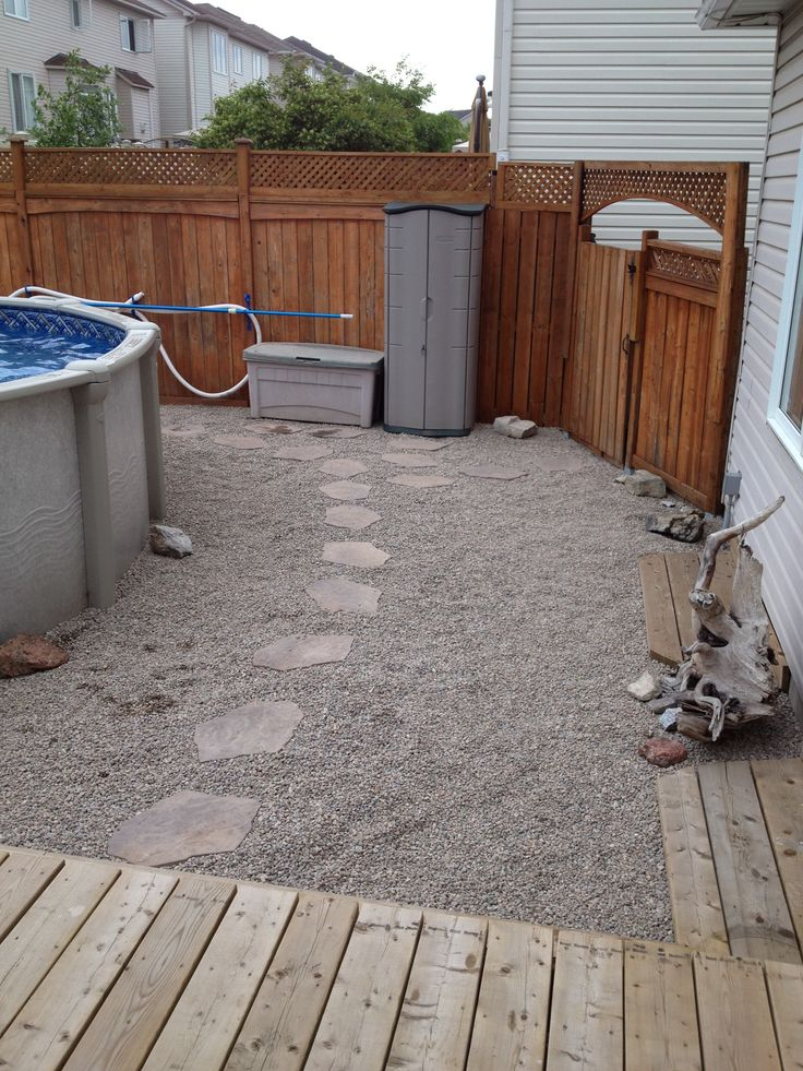 Landscaping Rocks Around Above Ground Pool : Landscaping around our above ground pool riverstone