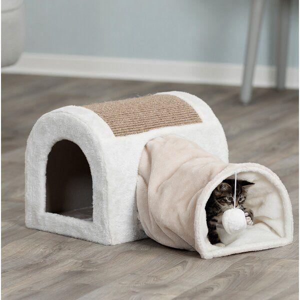 13 Holifield Cuddly Cave With Tunnel Cat Condo Reviews Joss Main Catfurniture Interiordesign Cattoys Cat Tree Condo Cat Condo Tucker Murphy Pet