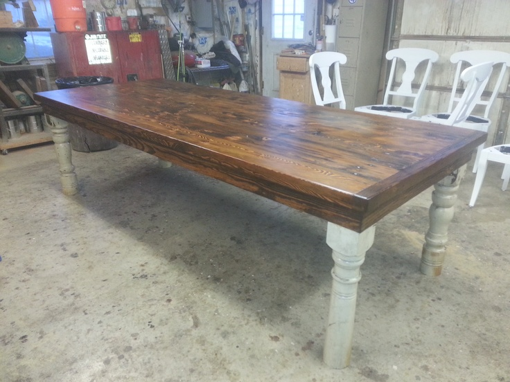 Best Reclaimed Wood Farm Dining Tables Images On Pinterest - Reclaimed pine dining table