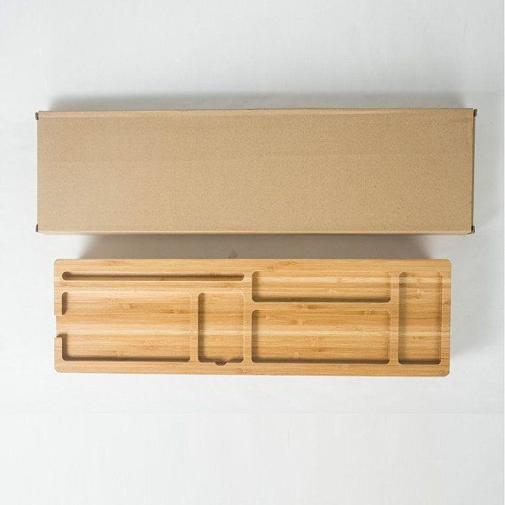 Houten toetsenbord Rack accessoires voor desktops opslag