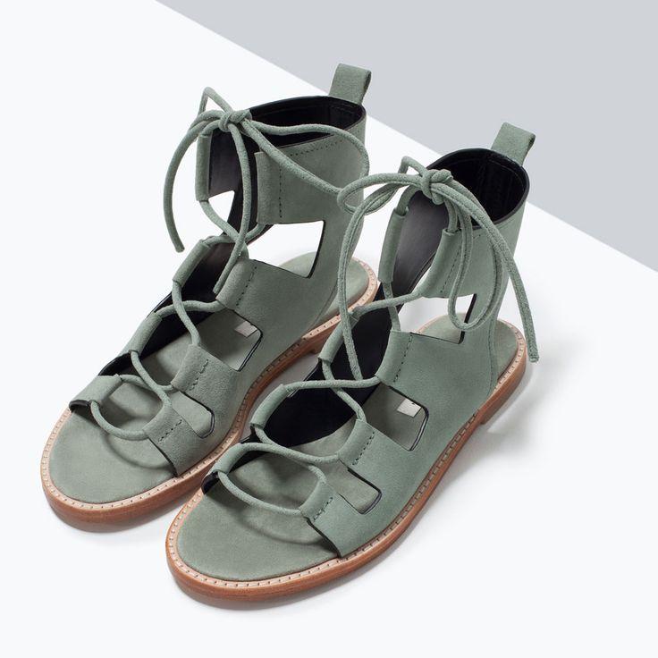 Image 6 de Spartiates en cuir de Zara