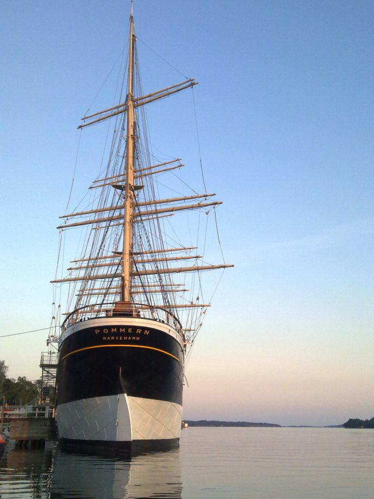 "The four-masted barque ""Pommern"", Mariehamn, Aland Islands"