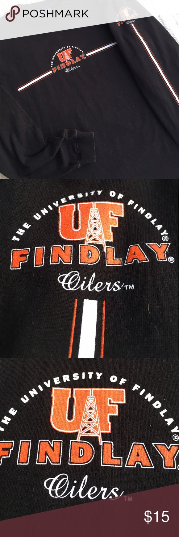 JANSPORT UNIV of FINDLAY LNG SLEEVE TEE *GO OILERS 🌺....LIKE BRAND NEW....JANSPORT UNIVERSITY of FINDLAY LONG SLEEVE TEE.  100% cotton.  PERFECT CONDITION!!  Stored in a smoke free home.   ****GO OILERS**** Jansport Shirts Tees - Long Sleeve