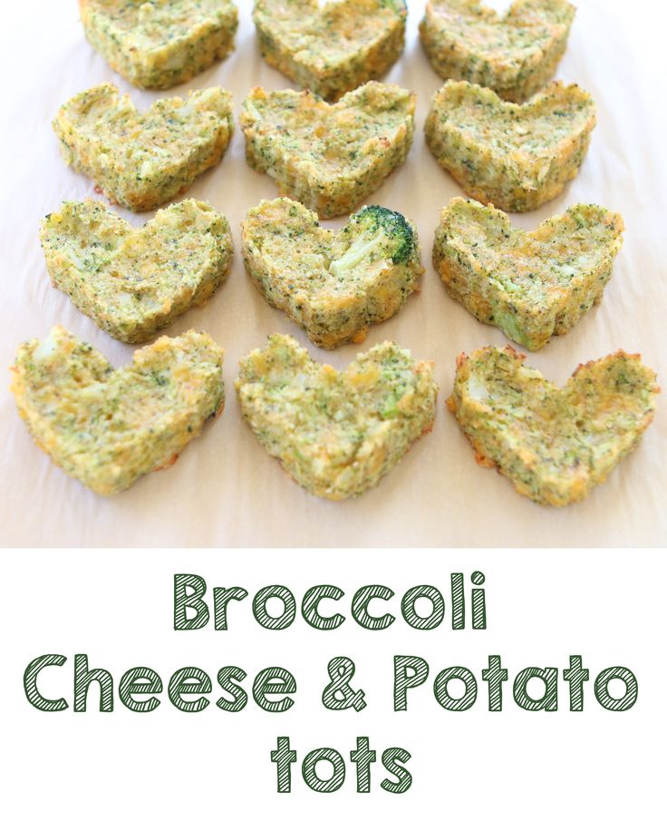 Healthy Baked Broccoli and Potato tots: cheesy enough to please your ...