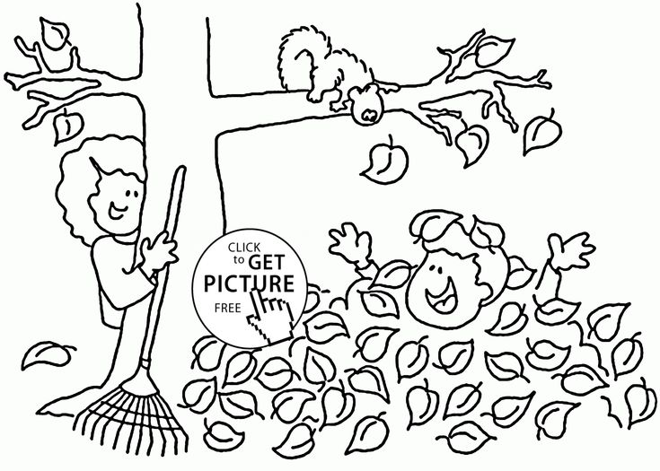 Fall Fun Time coloring pages for kids seasons printables