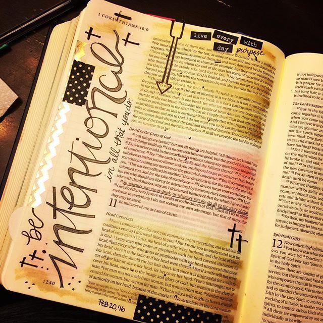1 Corinthians 10 Bible journaling day!!!