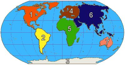 There Are Seven Continents On Earth In Class We Learn