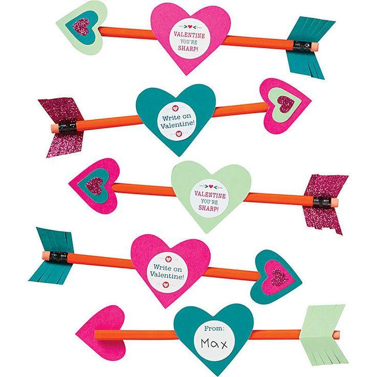 Valentine Pencil Arrows Kit – Print&Paper, kids valentine's day for class friends.