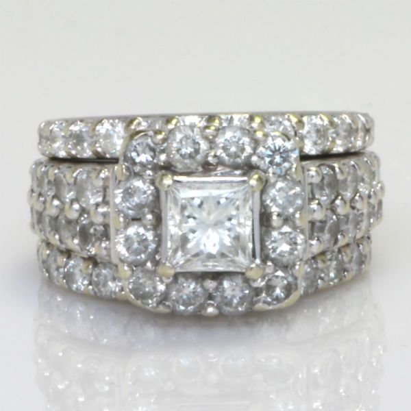 3.72 CTW GIA Princess Cut Halo Engagement Ring.  Diamond Exchange Dallas has a large selection of wholesale diamond engagement rings.  Find out more at http://diamondexchangedallas.com/engagement-rings-dallas
