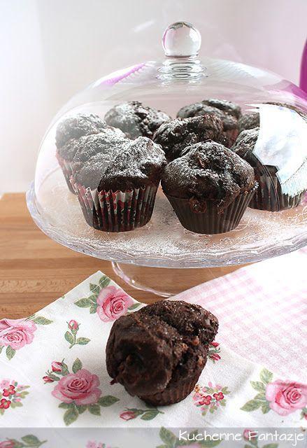 Kuchenne Fantazje: Bardzo czekoladowe muffiny. Najlepsze!