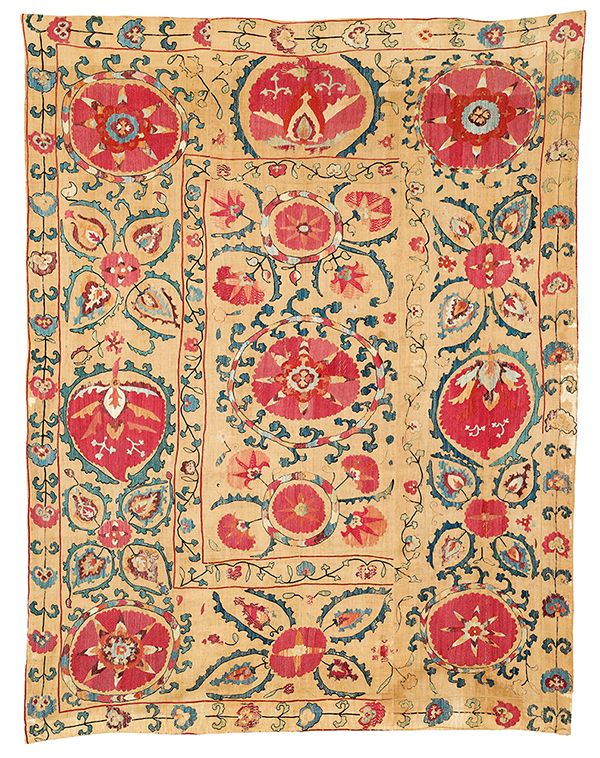 Samarkand suzani, Uzbekistan, first half 19th century. Estimate €3,900