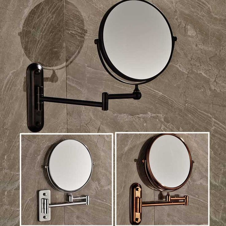"8"" Wall Mounted Round Magnifying Bathroom Mirror  Brass Makeup Cosmetic Mirror  Lady's Private Mirrors - ICON2 Luxury Designer Fixures   #8"" #Wall #Mounted #Round #Magnifying #Bathroom #Mirror # #Brass #Makeup #Cosmetic #Mirror # #Lady's #Private #Mirrors"