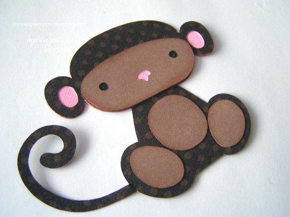 Monkey cutout for centerpieces.