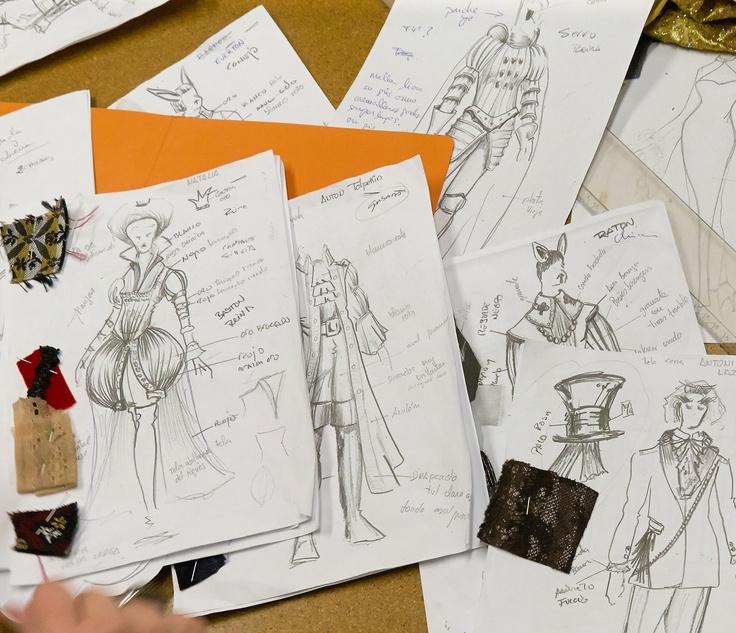figurines de Ricardo para el Atelier de Menkes