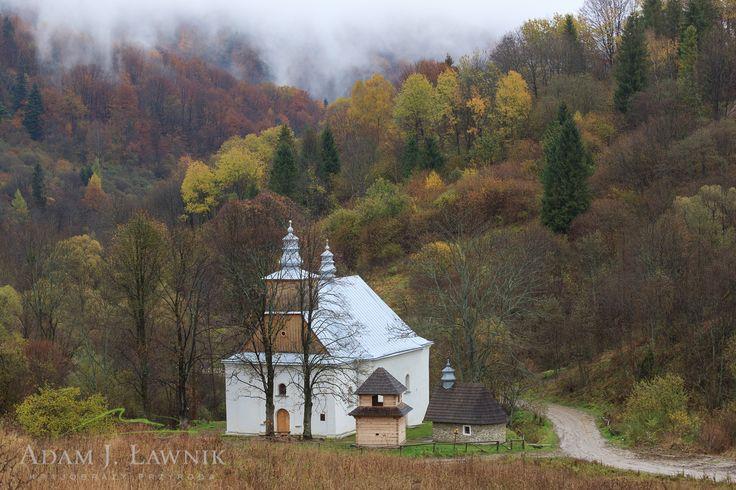 Łopienka, cerkiew - Bieszczady