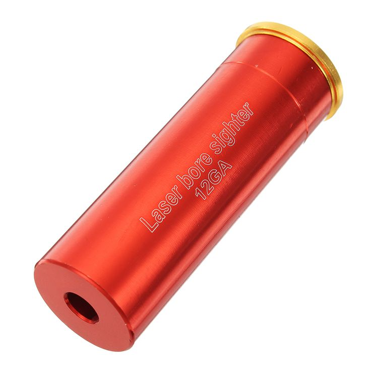 12GA Gauge Laser Bore Sighter Red Dot Sight Cartridge Bore Sighter Caliber