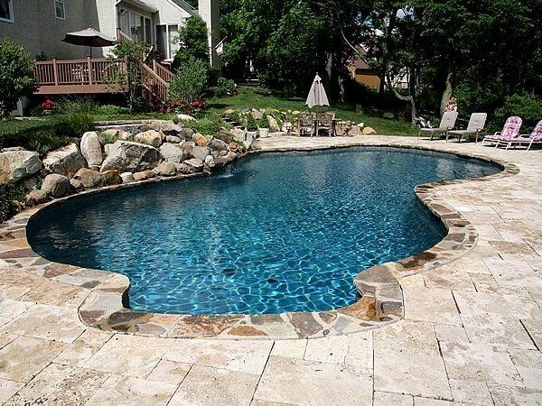 Pin By Ashlee Todd On Backyard Stone Pool Deck Stone Pool Swimming Pool Designs