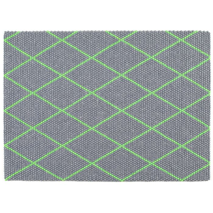 Hay & Scholten & Baijings' Electric Green Dot Carpet // via A+R Store