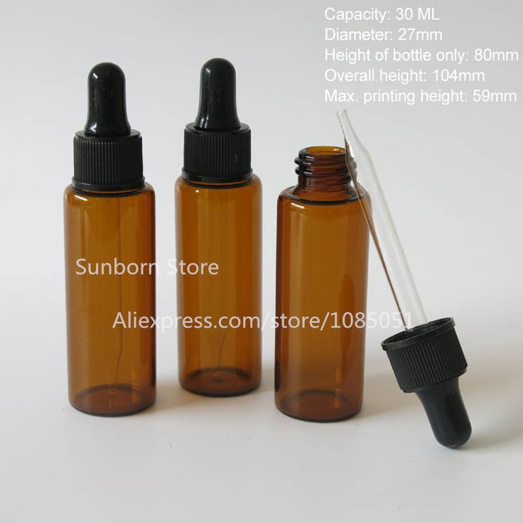 30 x 30ml dropper bottle, amber glass bottle dropper, brown glass container for essential oil, e liquid, pharm use