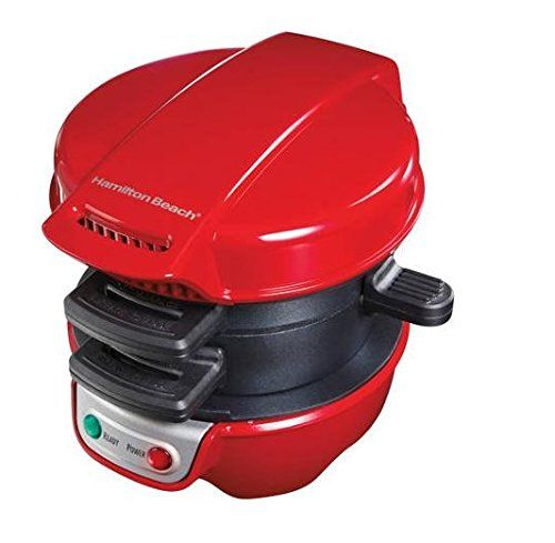 Hamilton Beach Breakfast Sandwich Maker Kitchen Counter Top Press, Red | 25476 * Check out the image by visiting the link.