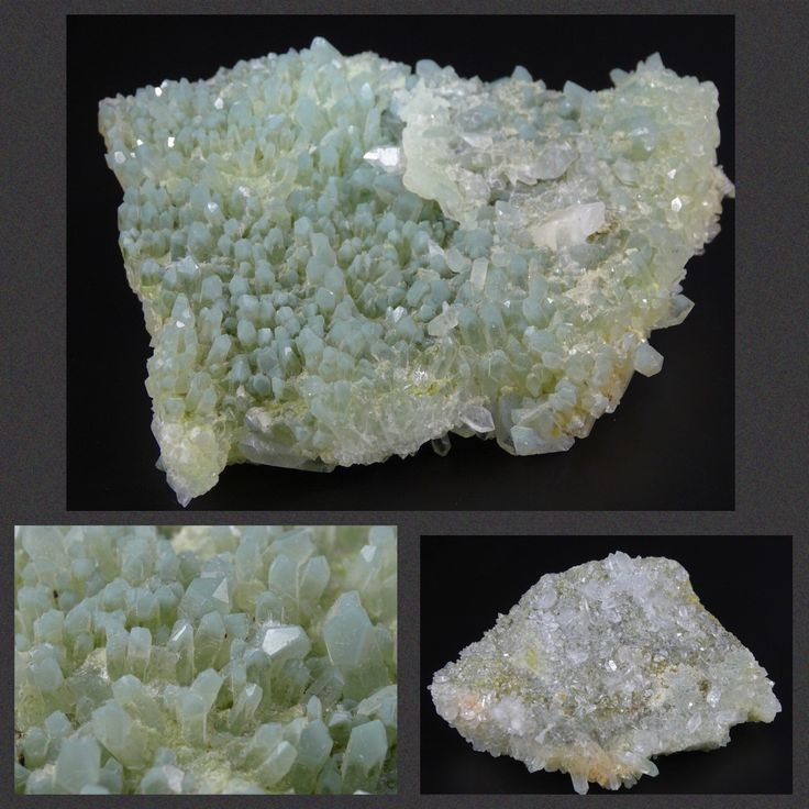 Green and Clear Quartz Crystals on Matrix 2 Looks in One