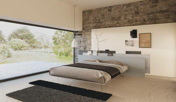 Dormitorio con unos colores muy neutros.