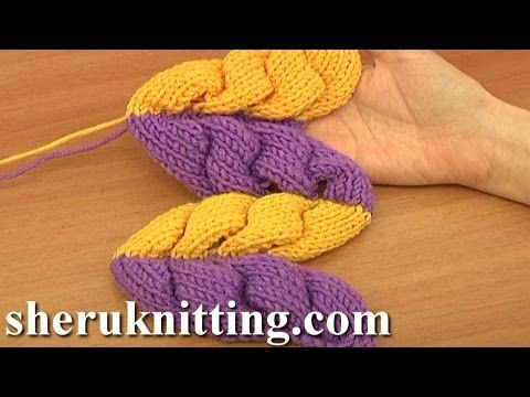 3D Knit Wheat Ear Stitch Pattern Tutorial 9 Part 1 of 2 Free Knitting Stitch Patterns - YouTube