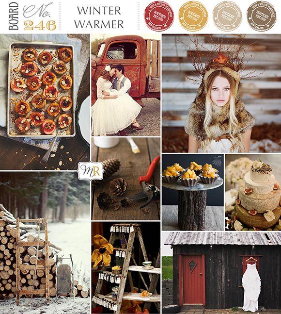 Winter Warmer Inspiration Board #winterweddinginspiration
