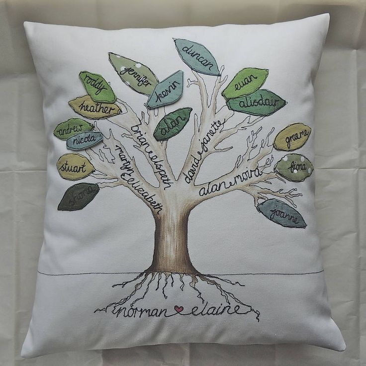 family tree cushion by designer j | notonthehighstreet.com
