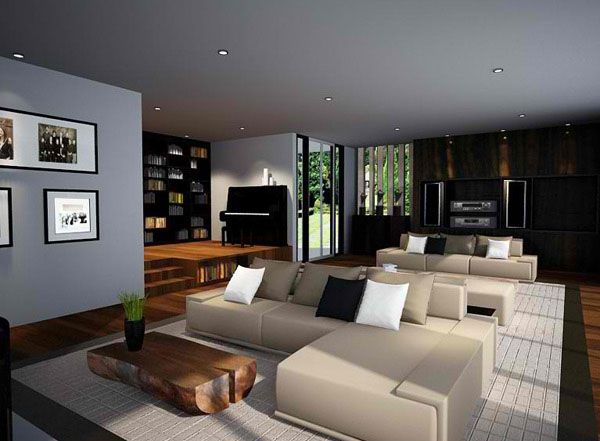 5 Most Relaxing Living Room Designs Inspired by Zen style : White Cushion Of Zen Inspired Living Room Design Ideas